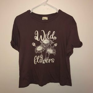Dirtee Laundry Wildflowers Graphic Dusty Mauve Tee